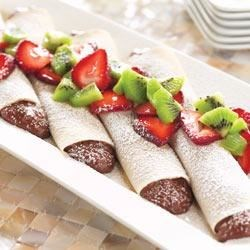 Chocolate Cream Crepes Recipe
