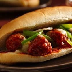 Saucy Meatball Hoagies Recipe