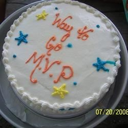 My daughter, MVP of her All-star softball team cake,