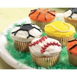 Photo of Ball Game Cupcakes by Betty Crocker®