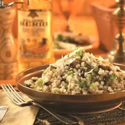 Barley with Mushrooms Risotto-Style Recipe