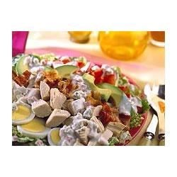 Grilled Turkey Cobb Salad with Blue Cheese Buttermilk Dressing
