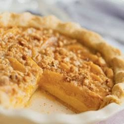 Deep-Dish Peach Custard Pie Recipe