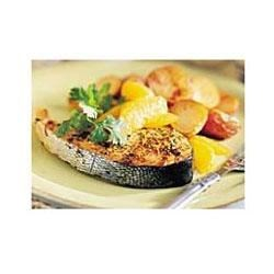 Oven-roasted Salmon Steaks with Red Potatoes Recipe