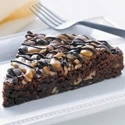 Chocolate Turtle Brownie Pie