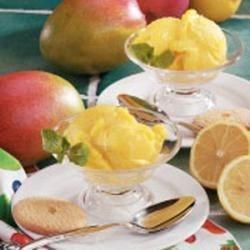 Photo of Mango Lemon Sorbet by Taste of Home Test Kitchen