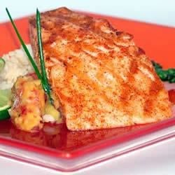 Grilled Atlantic Salmon with Mango Salsa Recipe