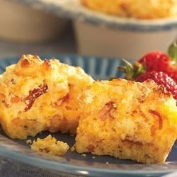 Savory Bacon Cheddar Corn Muffins Recipe