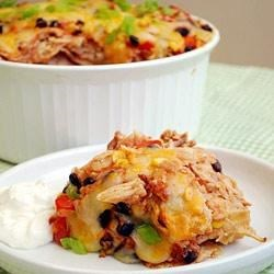 Photo of Chicken and Corn Enchilada Casserole by Wholly Guacamole® brand