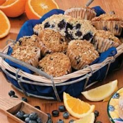 Photo of Lemon-Blueberry Oat Muffins by Jamie  Brown