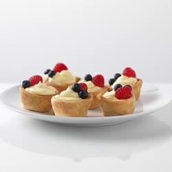 JELL-O Patriotic Mini Fruit Tarts Recipe