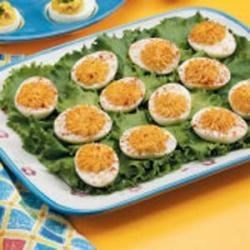 Photo of Bacon-Cheddar Deviled Eggs by Laura LeMay