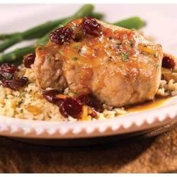 Pork Chops with Cherry Sauce Recipe