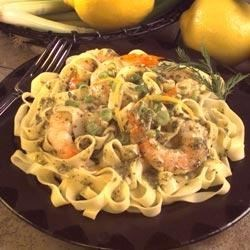 Pesto and Pasta with Lemon and Shrimp Recipe