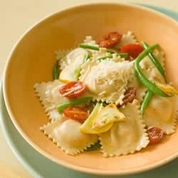 Whole Wheat Ravioli with Sauteed Garlic Vegetables Recipe