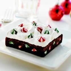 Snow-Topped Holiday SWIRLED(TM) Brownie Bars Recipe