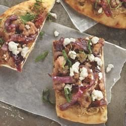 Peanut Pesto Flatbread Pizza