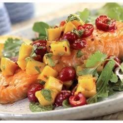 Caramelized Salmon with Cherry Salsa Recipe