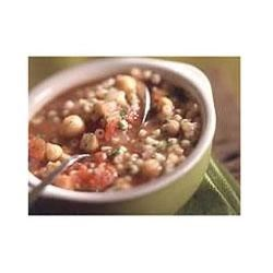 Mediterranean Chickpea, Tomato, and Pasta Soup Recipe