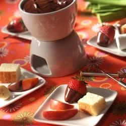 Five-Minute Chocolate Fondue Recipe