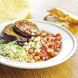 Beans with Eggplant and Rice Recipe