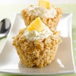 KELLOGG'S* RICE KRISPIES Treats* Pineapple Snow Cups Recipe