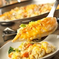 Skillet Cheesy Chicken and Rice Recipe