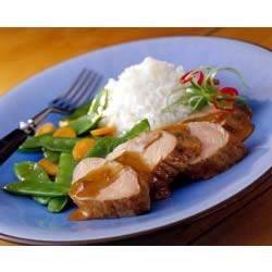 Photo of Pork Tenderloin with Hoisin-Raisin Sauce by National Pork Board