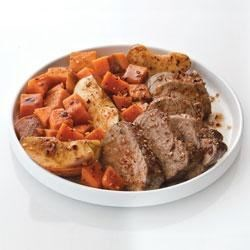 Photo of Bourbon Spiced Pork with Sweet Potatoes and Apples by McCormick® Gourmet