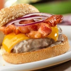 Photo of Mushroom Bacon Burgers from Campbell's Kitchen by Campbell's Kitchen