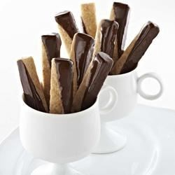 Chocolate Dipped Brown Sugar Shortbread Cookies Recipe