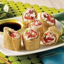 Photo of Strawberry Mint Spring Rolls by Mission® Foods