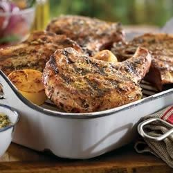 Lemon-Tarragon Pork Chops
