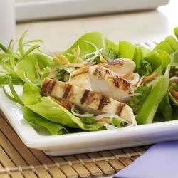 Asian Lettuce Wraps with Mustard Vinaigrette Recipe