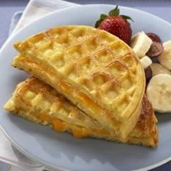Egg and Cheese Waffle Sandwich Recipe