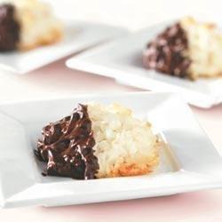 BAKER'S Chocolate-Dipped Macaroons Recipe