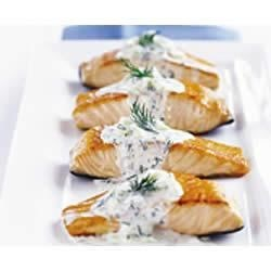 Photo of Light PHILLY 20-Minute Skillet Salmon by Philadelphia Cream Cheese