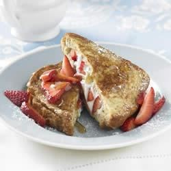 Strawberry Ricotta Stuffed Whole Grain French Toast Recipe