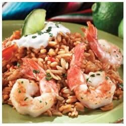 Garlic and Lime Shrimp with Spanish Rice Recipe