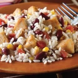 Southwestern Chicken and White Rice Recipe