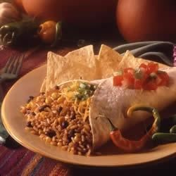 Brown Rice Black Bean Burrito