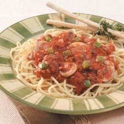 Photo of Herbed Mushroom Spaghetti Sauce by Anne Halfhill