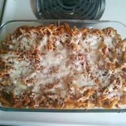 Mostaccioli Mushroom Bake Recipe