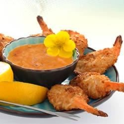 Baked Coconut Shrimp with Spicy Dipping Sauce Recipe