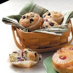 Photo of Sugar-Dusted Blueberry Muffins by Janis  Plagerman