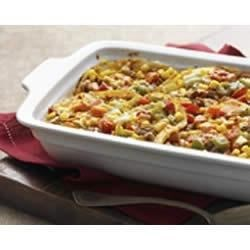 Photo of Layered Fiesta Casserole by KRAFT Shredded Cheese