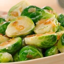 Becel(R) Browned Buttery Brussels Sprouts Recipe