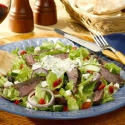 Gyro Steak Salad (with Tzatziki dressing) Recipe