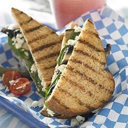 Grilled Eggplant and Portobello Mushroom Sandwich Recipe