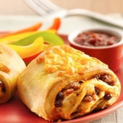 Photo of Beef and Bean Crescent Burritos by Pillsbury® Crescents